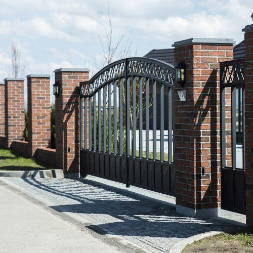 kalviski modernus metaliniai vartai